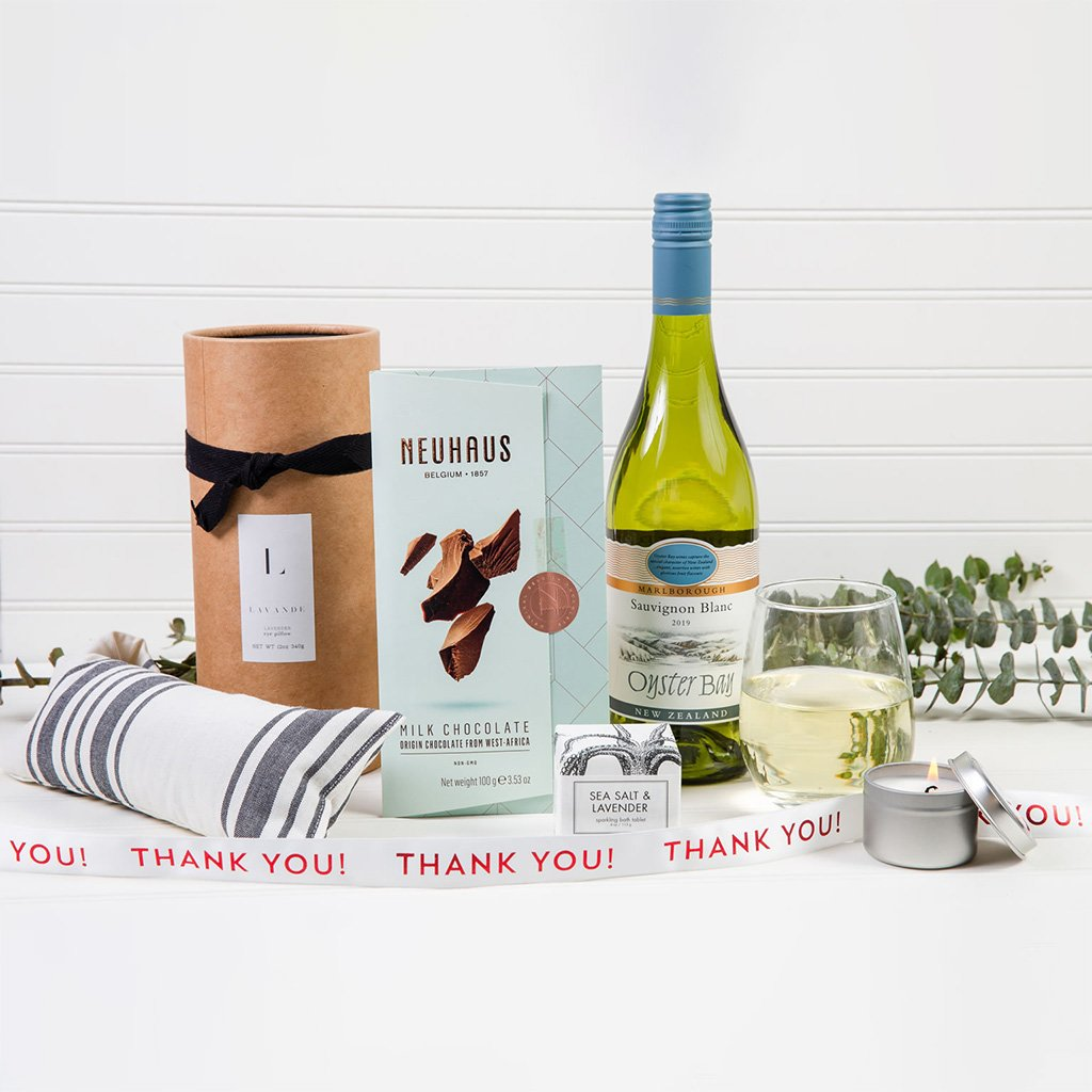 Lavender Dreams Thank You Wine Gift Set