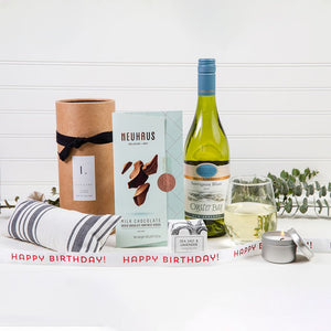 Lavender Dreams Happy Birthday White Wine Gift Set - GiftBasket.com - Gift Set