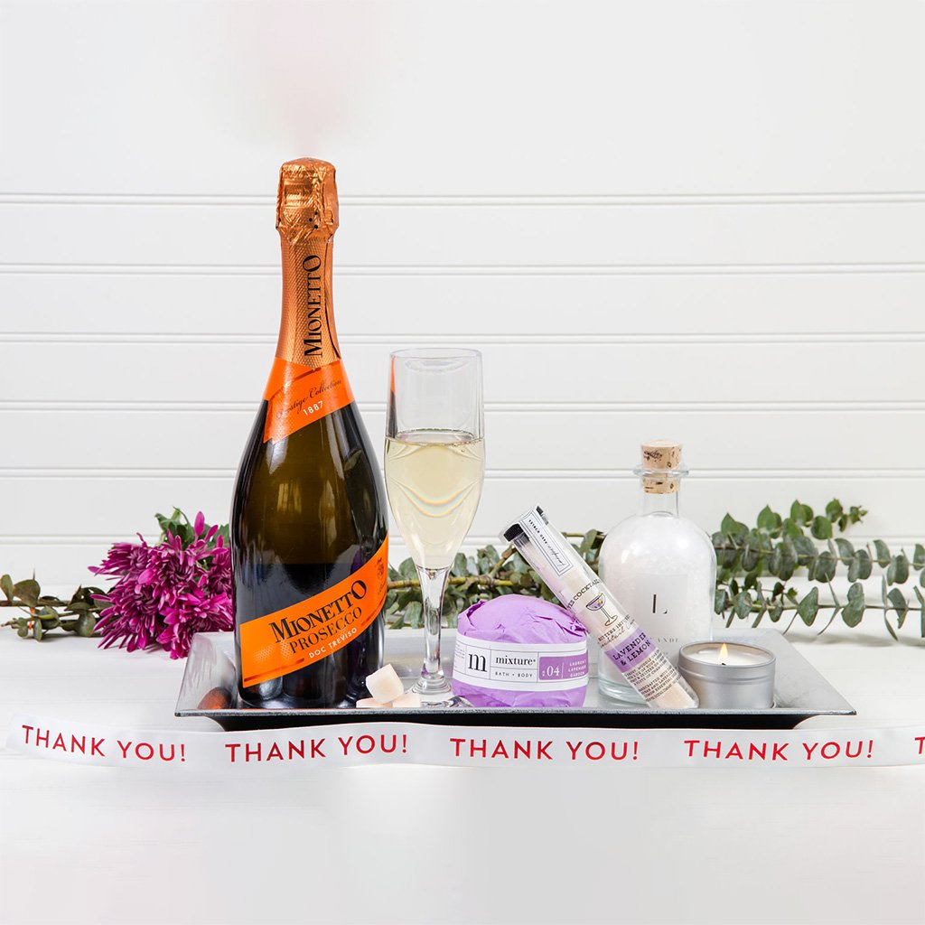 Just Breathe Lavender Thank You Wine Gift Set