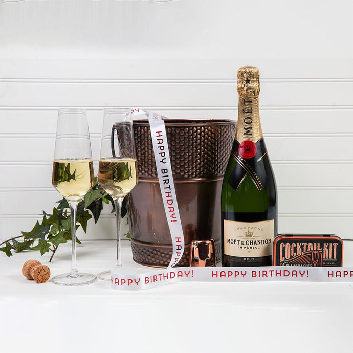 Let's Celebrate with Champagne - Happy Birthday! - GiftBasket.com - Gift Set