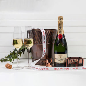 Let's Celebrate with Champagne - Happy Holidays! - GiftBasket.com - Gift Set