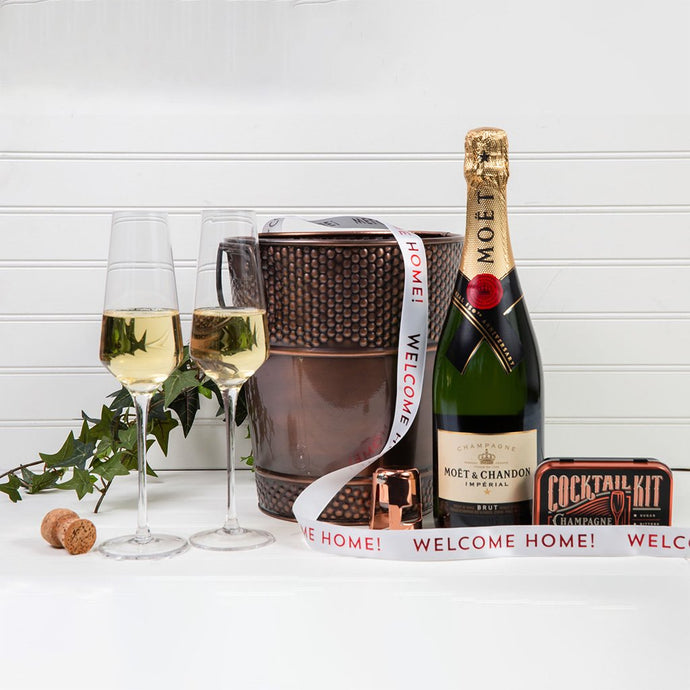 Let's Celebrate with Champagne - Welcome Home - GiftBasket.com - Gift Set