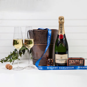 Let's Celebrate with Champagne - Happy Hanukkah! - GiftBasket.com - Gift Set