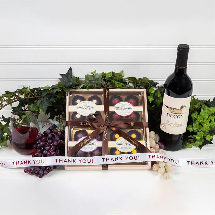 Wine Truffle Thank You Gift Set
