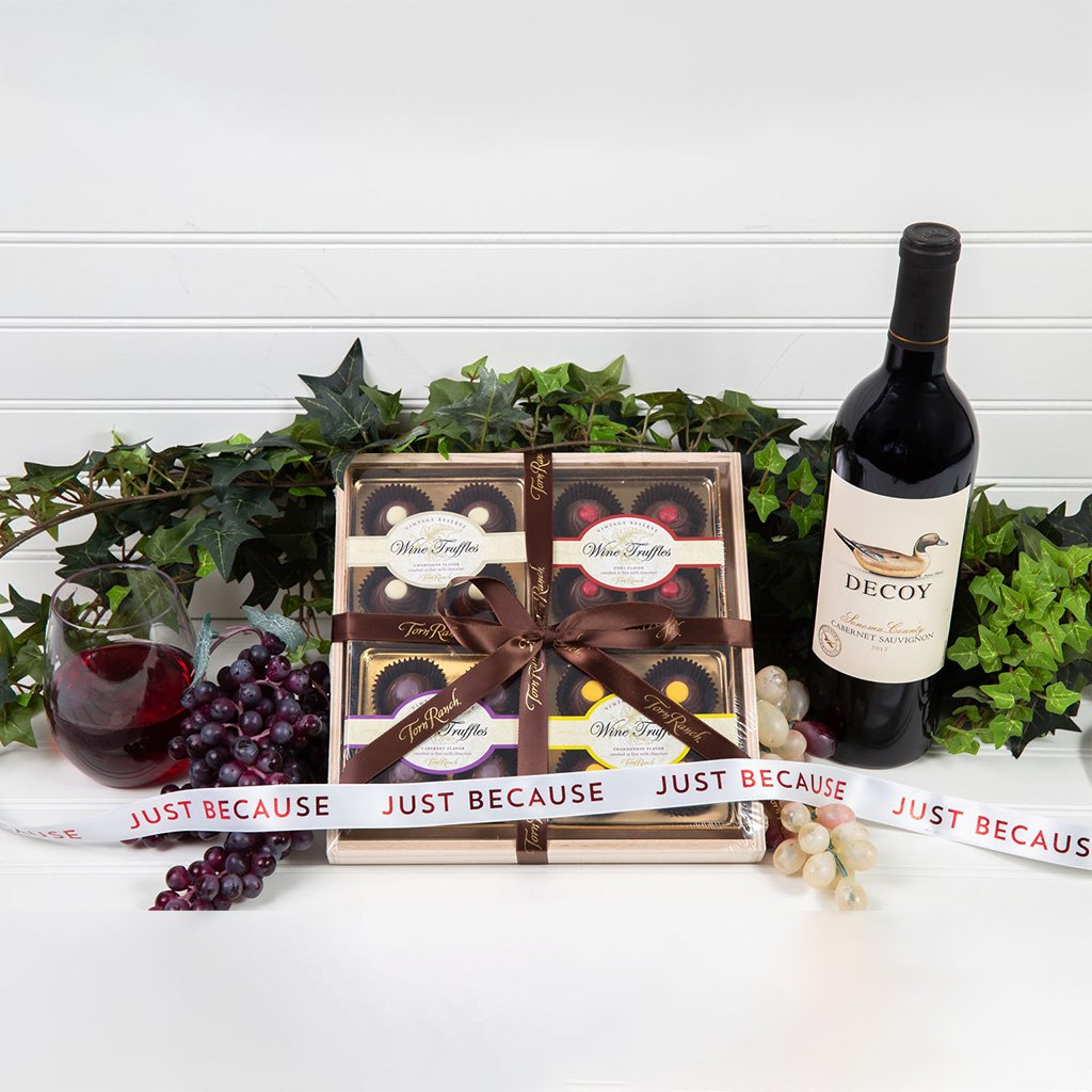 Red Wine Truffle Just Because Gift Set - GiftBasket.com - Gift Set