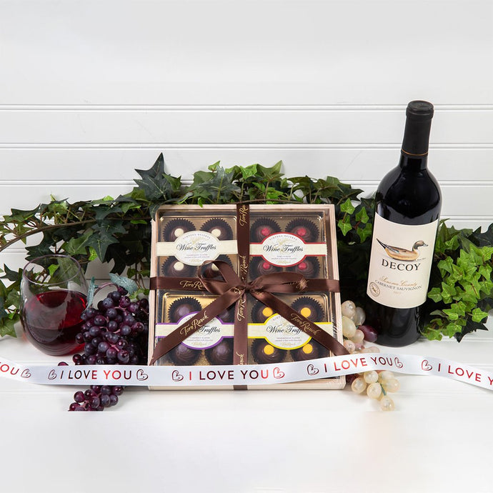 Wine Truffle I Love You Gift Set