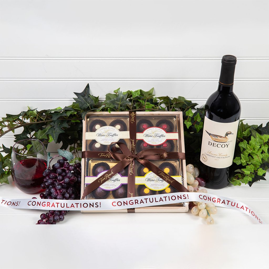 Wine Truffle Congratulations Gift Set
