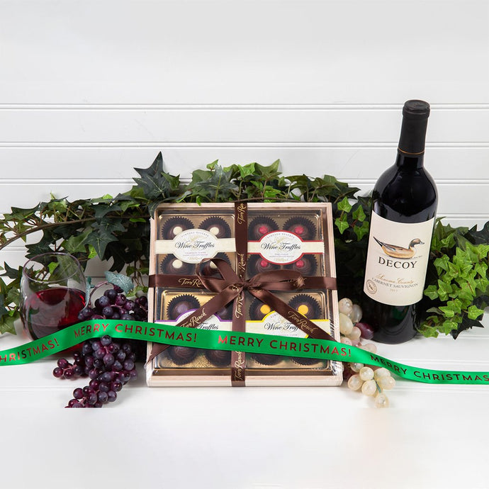 Wine Truffle Christmas Gift Set