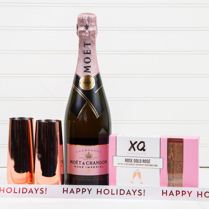 Let's Get Fizzical Happy Holidays Champagne Gift Set (Version 2)