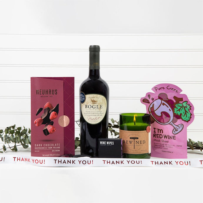Wine Down Thank You Spa Set