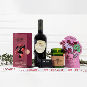 Red Wine Down Just Because Spa Set - GiftBasket.com - Gift Set