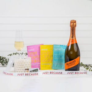 Mask & Relax Just Because Prosecco Gift Set - GiftBasket.com - Gift Set