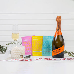Mask & Relax Happy Holidays Prosecco Gift Set