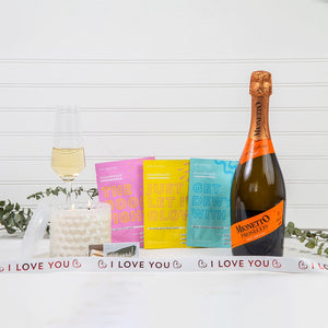 Mask & Relax I Love You Prosecco Gift Set
