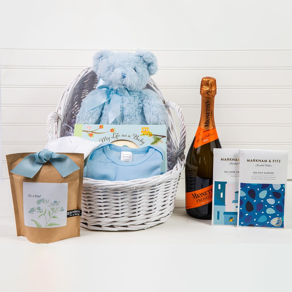Welcome Home Baby Boy Prosecco Gift Set