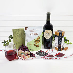 Red Wine & Chocolate Decadence - Happy Birthday! - GiftBasket.com - Gift Set