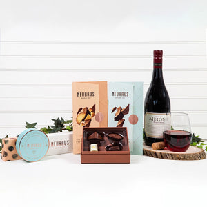 Chocolate & Red Wine Dreams - GiftBasket.com - Gift Set