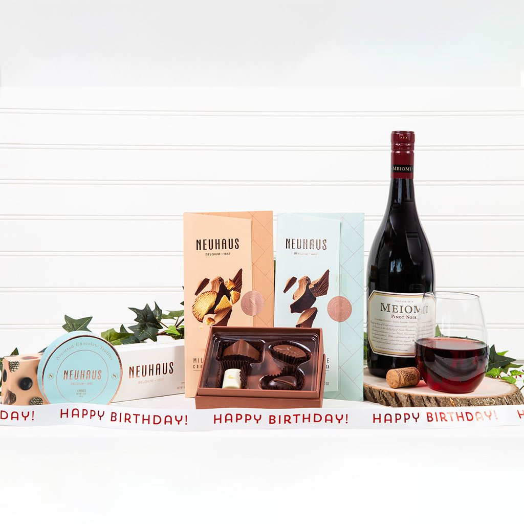 Chocolate & Red Wine Dreams - Happy Birthday! - GiftBasket.com - Gift Set