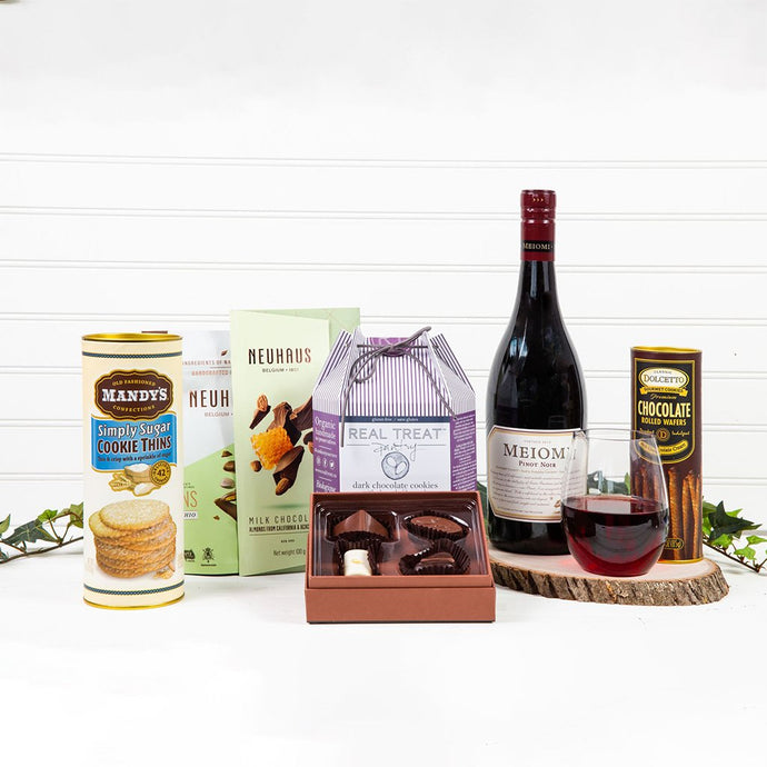 Cookie, Chocolate and Red Wine Decadence - GiftBasket.com - Gift Set