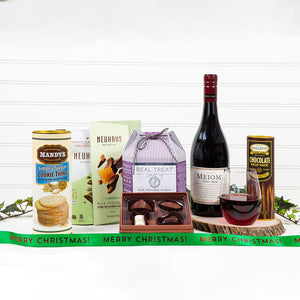 Cookie, Chocolate and Red Wine Decadence - Merry Christmas! - GiftBasket.com - Gift Set