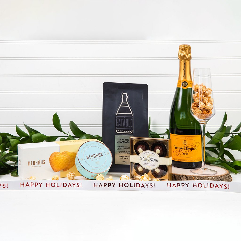 Pop The Champagne - Happy Holidays! - GiftBasket.com - Gift Set