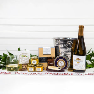 Chill the White Wine Congratulations Gift Set - GiftBasket.com - Gift Set
