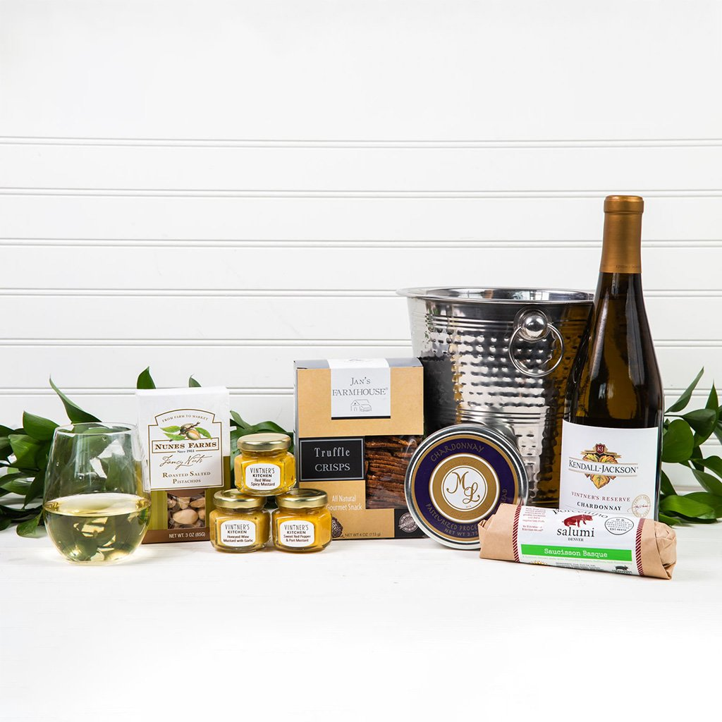 Wine Gift Basket - Chill the White Wine Gift Set by GiftBasket.com