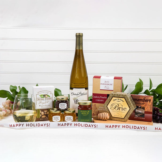 Honey Pass the Cheese Happy Holidays Wine Gift Set