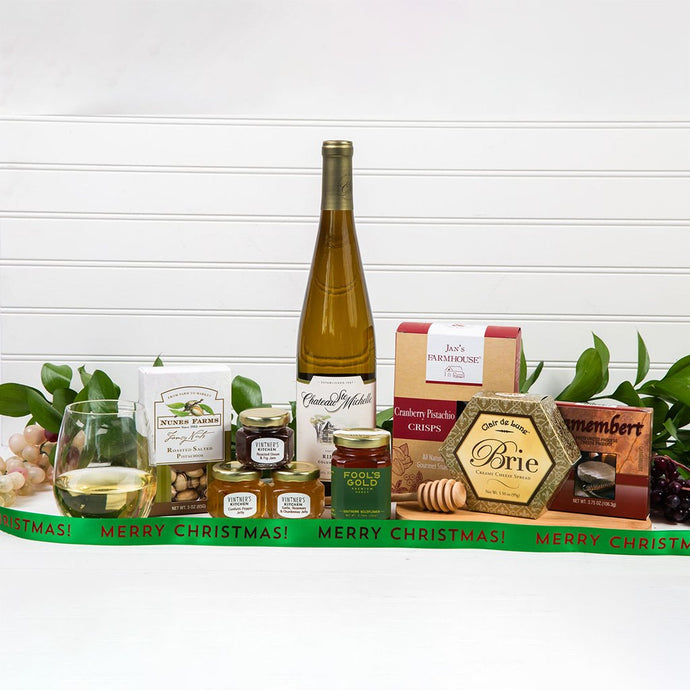 Honey Pass the Cheese Merry Christmas Wine Gift Set