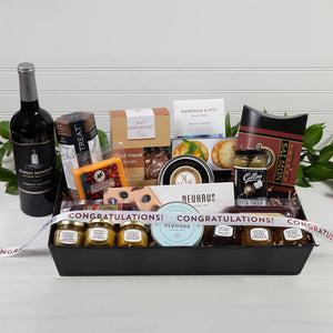 Sweet and Savory Congratulations Luxury Red Wine Gift Basket - GiftBasket.com - Gift Basket