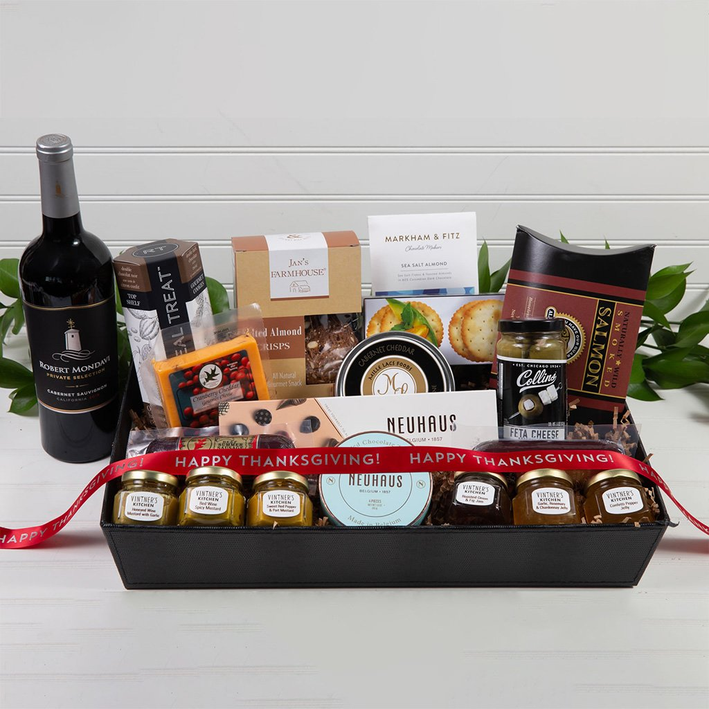 Sweet and Savory Happy Thanksgiving Luxury Gift Basket