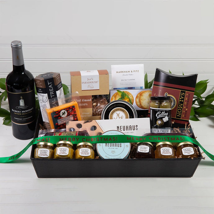 Sweet and Savory Merry Christmas Luxury Gift Basket
