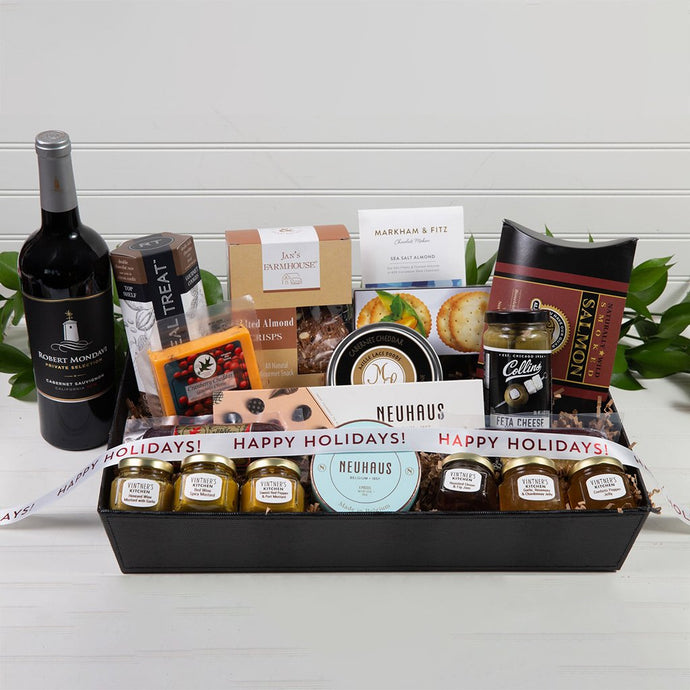 Sweet and Savory Happy Holidays Luxury Gift Basket