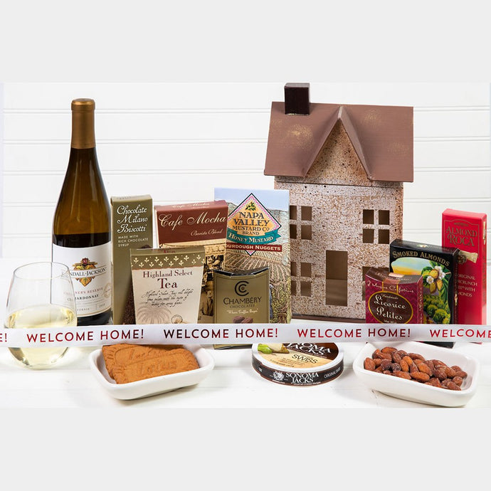 Home Sweet Home Welcome Home White Wine Gift Basket - GiftBasket.com - Gift Basket