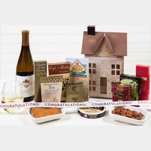 Home Sweet Home Congratulations Wine Gift Basket