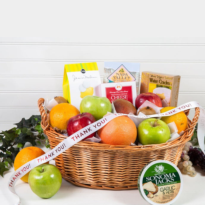 Delicious Delights Gourmet Thank You Gift Basket
