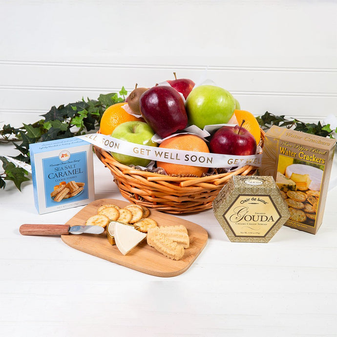 Connoisseur Fruit & Gourmet Get Well Basket