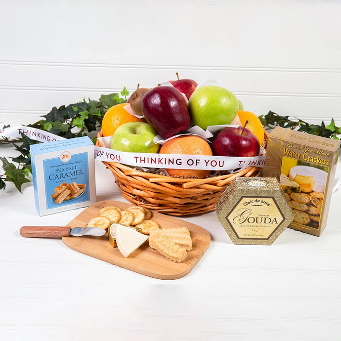 Connoisseur Fruit & Gourmet Thinking of You Basket