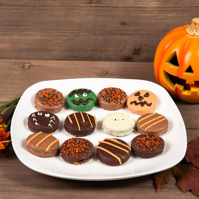 Halloween Spooky Belgian Chocolate Sandwich Cookies