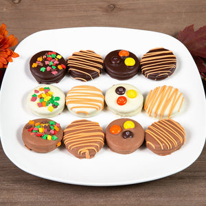 Autumn Themed Chocolate Covered Oreos - GiftBasket.com - Gift Box