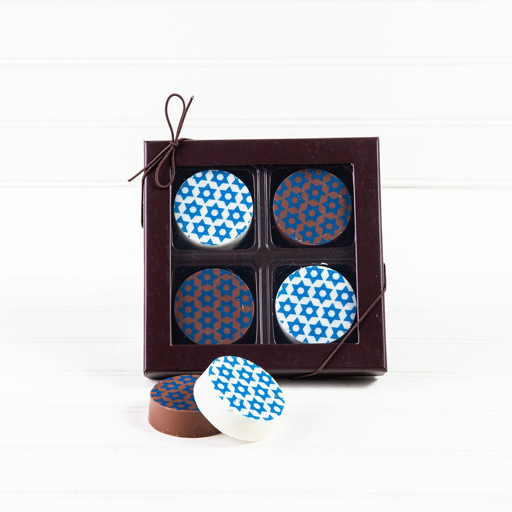 Hanukkah Chocolate Covered Oreo Gift Box