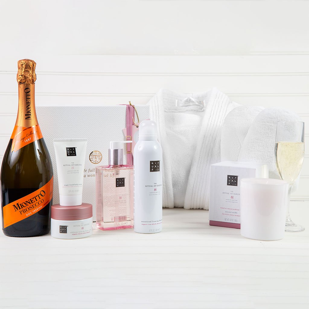 Luxury Women's Spa Package - Featuring Ritual of Sakura Wine Gift Set