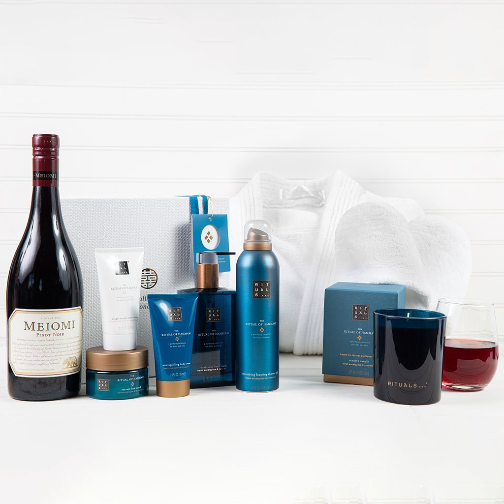 Luxury Women's Spa Package - Featuring Ritual of Hammam Wine Gift Set