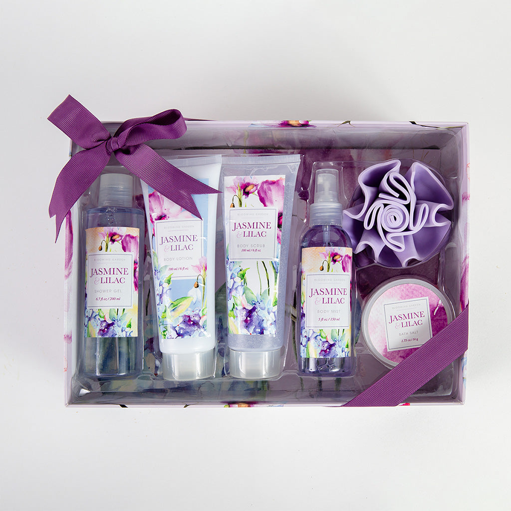 Jasmine & Lilac Luxury 6pc Box Set - GiftBasket.com - Gift Box