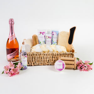 Jasmine & Lilac Calming Spa Set With Sparkling Wine