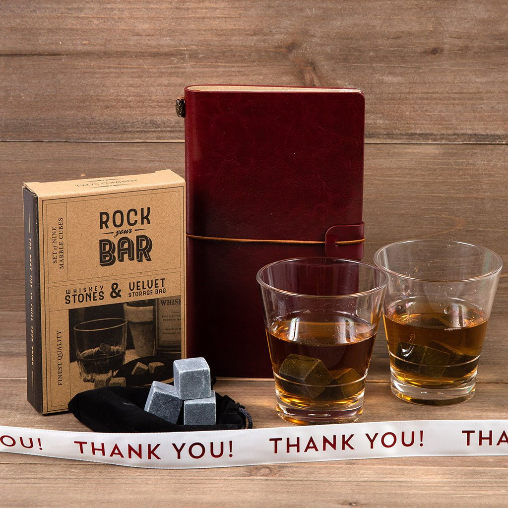 Whiskey on the Rocks Thank You Gift Set