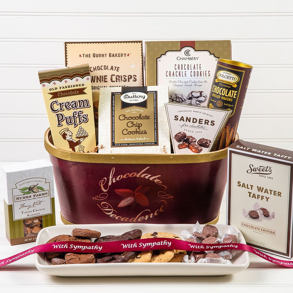 Deliciously Decadent Chocolate Sympathy Gift Basket - GiftBasket.com - Gift Basket