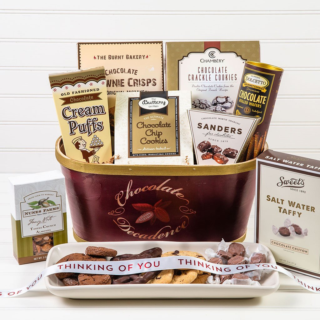 Deliciously Decadent Chocolate Thinking of You Gift Basket - GiftBasket.com - Gift Basket
