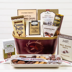 Deliciously Decadent Chocolate Birthday Gift Basket