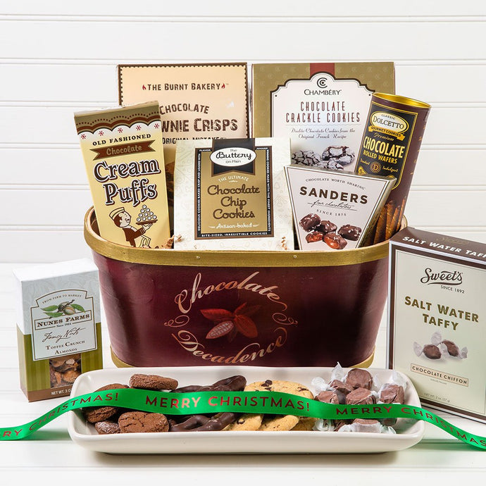 Deliciously Decadent Chocolate Christmas Gift Basket